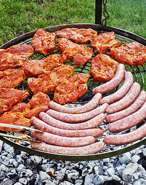 Campsite Runkel Grilling Barbecue BBQ