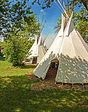 Tipi village at the Lahn